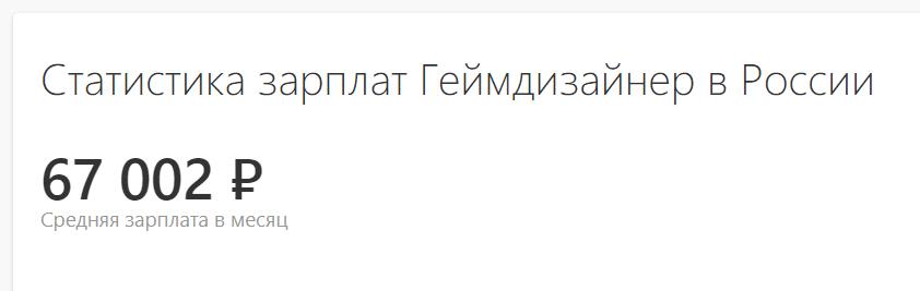 Средняя ЗП геймдизайнера в России