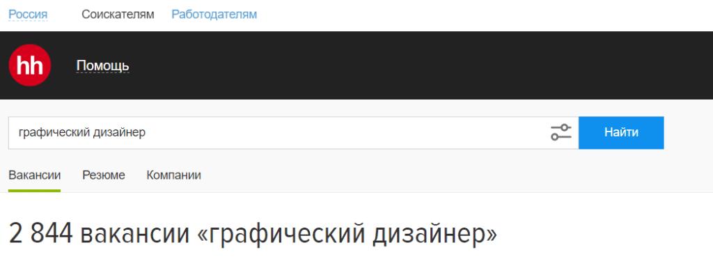Вакансии графического дизайнера на HH.ru