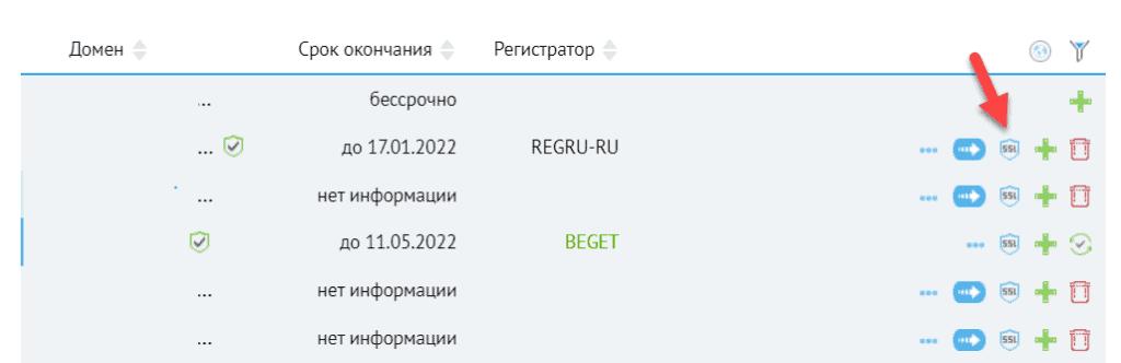 Управление SSL-сертификатом